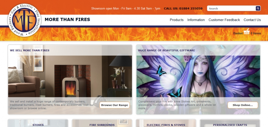 More Than Fires in Tiverton gets a new e-commerce website